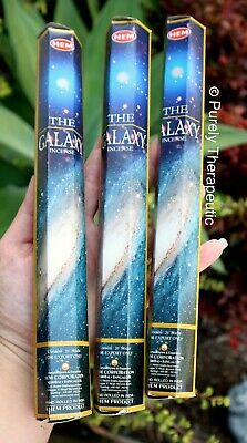 THE GALAXY INCENSE STICKS~Hem Hexagonal Pack of 20 Sticks x 3 Wicca Ritual Pagan