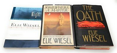 Elie Wiesel  LOT 3 Night ~ Somewhere a Master ~ The Oath
