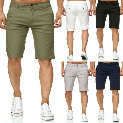 New Men Summer Slim Fit Casual Shorts Solid Work Cargo Short Pants Half Trousers
