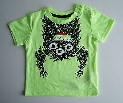 Boys Monster T-Shirt Bright Green 6-9 Months Brand New With Tags Christmas Gift