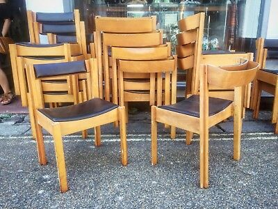 Mid Century stacking Dining / Church Chairs by Clive Bacon Danish Table Chapel
