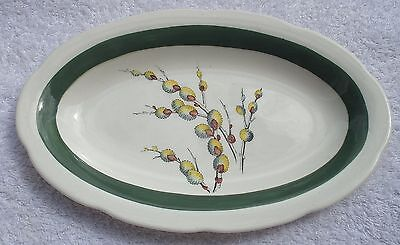 Art Deco  Crown Ducal Serving Plate Pussy Willow Pattern 1928