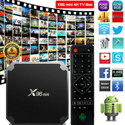 X96 Android 7.1 Mini TV Box Quad Core Smart Media Player HD WIFI 4K 17.3 HDMI UK