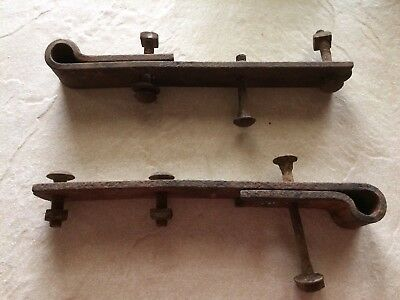 "Pair Vintage  Strap Hinge 11.5"" Barn Door New England Barn Antique"