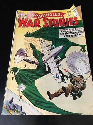 Star Spangled War Stories 95 DC comic Dinosaur Island 1961 Check Pics!