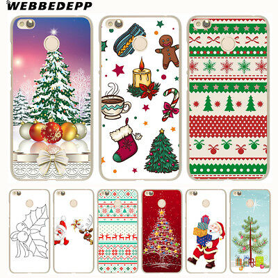 For Xiaomi Redmi 4A 5A 5 Plus 6 Pro 6A 3S Christmas Pattern Cover Case N4387