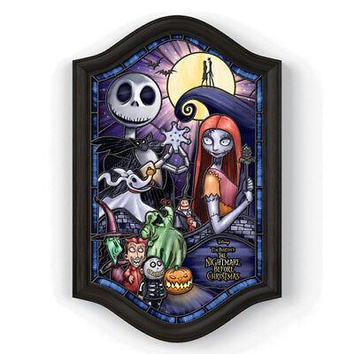 Disney The Nightmare Before Christmas Stained-Glass Wall Decor - Illuminated