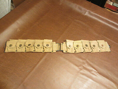 Vintage Antique Wwi Us Army Mills Combat Infantry Soldier 30 Cal Ammo Pouch Belt