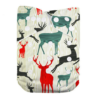 LilBit Pocket Reindeer Reusable Cloth Baby Diaper