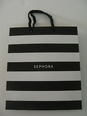 Sephora Gift Bag Black And White With Rope Style Handles Small