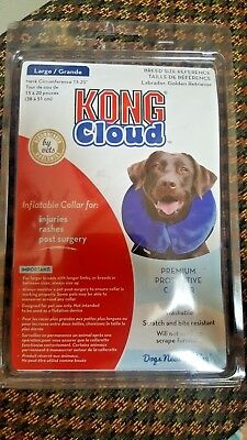 Kong Cloud Inflatable Protective Collar For Dog Injuries Large New 15-20""