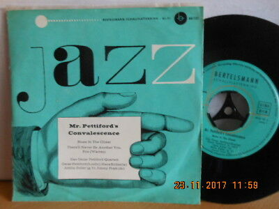 "7"" 1960 RARE in MINT- ! OSCAR PETTIFORD-QUARTETT - Mr. Pettiford´s Convalescence"