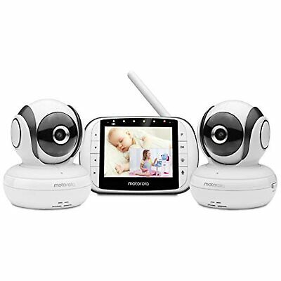 Motorola MBP36S-2 Video Baby Monitor with 2 Cameras, 3.5 Inch LCD Screen