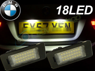 Fits BMW 1 Series E82 E88 18 SMD LED Rear Number Licence Plate Units Replacement