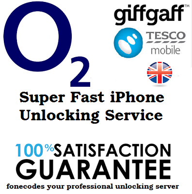 O2 TESCO Unlocking code Service for Iphone 8 Plus X iPhone 10 Ten Fast Unlock