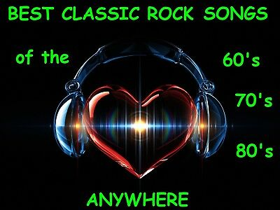 1,500 CLASSIC ROCK SONGS Pre-Loaded - MP3 / USB FLASH DRIVE / ALPHABETIZED LIST