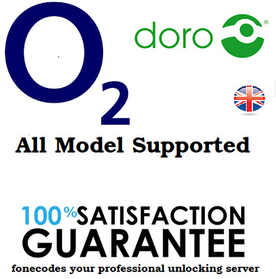 O2 UK DORO all models supported unlocking code fast service
