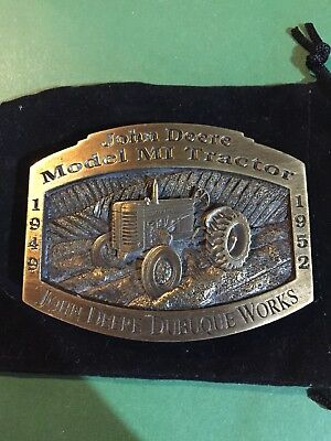 "JOHN DEERE MODEL ""MI"" TRACTOR BELT BUCKLE-LIMITED Edition JD Dubuque Works"