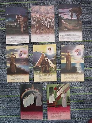 WW1 Bamforth Song Cards (3) A Soldier/I Wonder/Hush Here Comes The Dream fc71-4