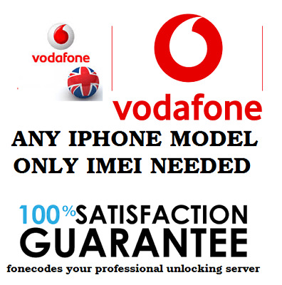 IPHONE 7 7+ 6S 6S+ 8 8+ X PERMANENT UNLOCK CODE UK VODAFONE (only imei needed)