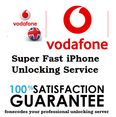 IPHONE 7 7+ 6S 6S+ 8 8+ X PERMANENT UNLOCK CODE UK VODAFONE (Read Description)