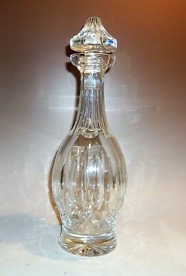 "Waterford Crystal Kildare Pattern Decanter & Stopper, Signed, 13 1/2"" T x 4 1/2"""