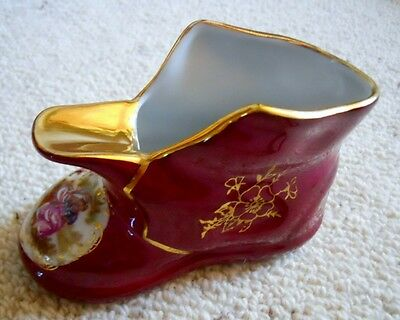 Beautiful Genuine Vintage French Boot / Shoe Ashtray Limoges France; No. 631 VGC