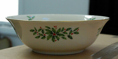 "Vintage Lenox ""HOLIDAY"" Large Serving Bowl Christmas Excellent Condition #2"