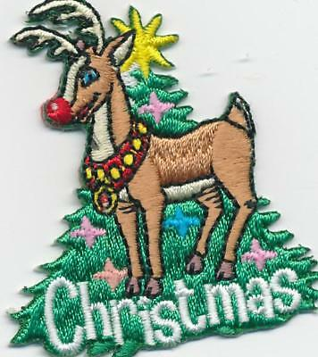 Girl Boy Cub CHRISTMAS Reindeer Fun Patches Crests Badge SCOUT GUIDE party event