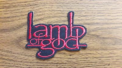 Lamb Of God,iron On Red Embroidered Patch
