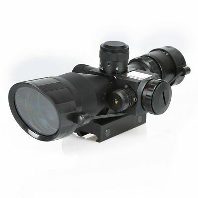 Laser Scope illuminated Mount US 2.5-10x40 Tactical Rifle Scope Red Green Dot