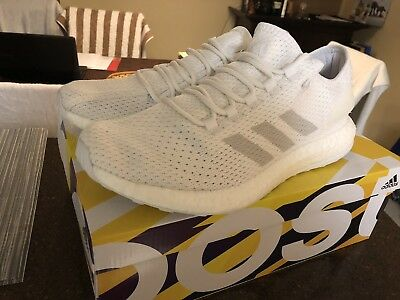 96c679359 Adidas Pureboost Clima Sz 10.5 Cloud White Grey Crystal Ultraboost By8897