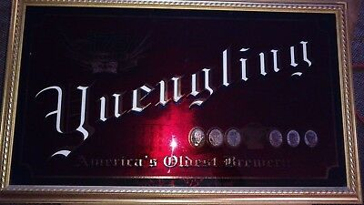 Vintage Yuengling Beer Sign Mirror America's Oldest Brewery 175th anniversary