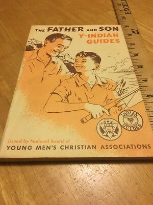 Father and Son Y-Indian Guides YMCA Handbook - 1962? - FREE SHIPPING