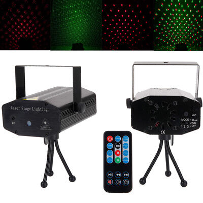10W Laser Projector Stage Light Remote Control Xmas Colorful Lighting Durable