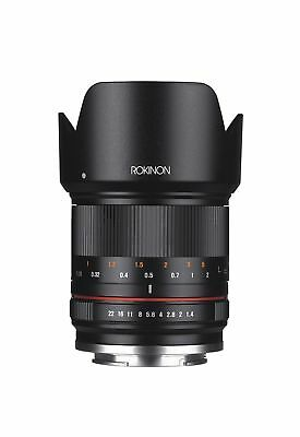 Rokinon RK21M-FX 21mm F1.4 ED AS UMC High Speed Wide Angle Lens for Fuji (Bla...