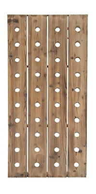 Deco 79 55409 Extra Large Rustic Reclaimed Wood Hanging Wine Rack | 40 Bottle x