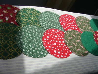 Fabric Jar Lid Covers X 12 For Christmas Jams Preserves Pickles Lollies Honey
