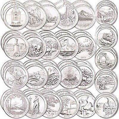 2010 -2018  P - D  America the beautiful  Park 5  Quarters   ANY YEARS SET
