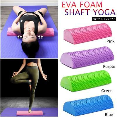 30/45cm EVA Yoga Pilates Fitness Half Round Foam Roller W/Floating Message Point