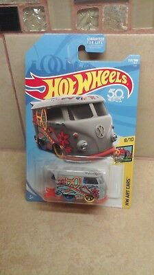 Hot Wheels⭐2018 Art Cars ⭐Kool Kombi⭐50th Anniversary VW Volkswagen Bus