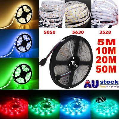 5M-50M 3528 5050 5630 SMD Waterproof 300Leds/M LED Flexible Strip Light 12V DC