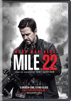 Mile 22 Dvd - Single Disc Edition - New Unopened - Mark Wahlberg