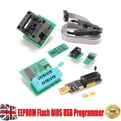 EEPROM BIOS USB Programmer CH341A+SOIC8 Clip+1.8V Adapter +SOIC8 Adapter Kit