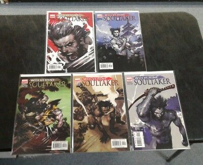 Wolverine: Soultaker (Marvel 2005) COMPLETE SET LOT RUN (1-5) All Near Mint NM!