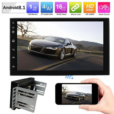 "Universal 7"" Android 8.1  Car 2DIN GPS Navigation Radio Stereo Player 4Core Wifi"