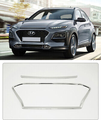 Korea Chrome Radiator Grille Molding Garnish Trim for Hyundai Kona 2017 2018