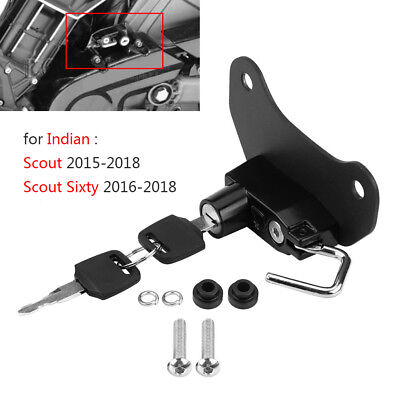 Anti-theft Motorcycle Helmet Lock W/ 2 Keys For Indian Scout Sixty 15 16 17 18