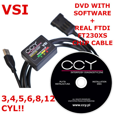 PRINS VSI 1 Diagnose INTERFACE Autogas LPG USB Kabel + DVD Software