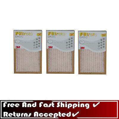 85897671d33 Filtrete Basic 3M Pleated AIR FURNACE FILTER White Pleated 3 Pack 16